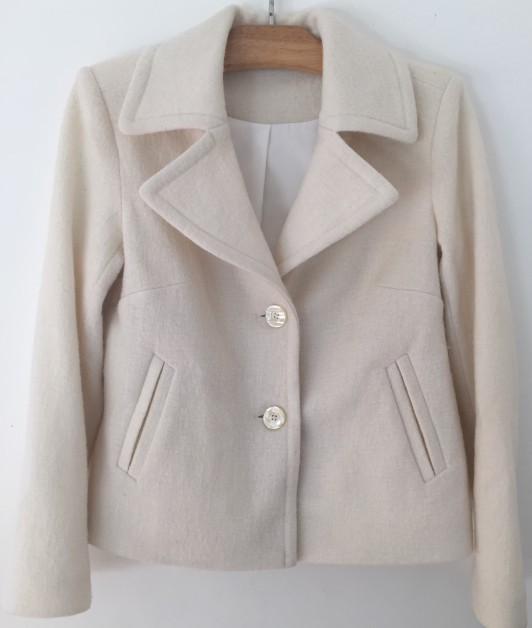 Jacket with pale buttons