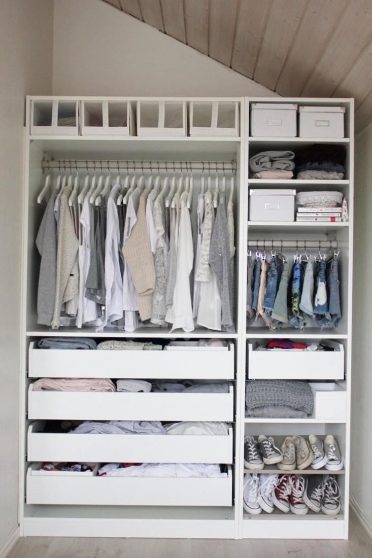 Open wardrobe cupboard