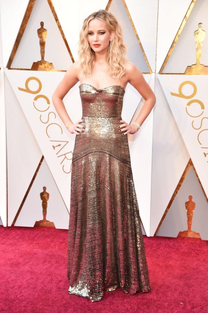 jennifer-lawrence in Dior Oscars 2018